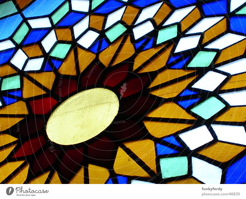 Cordobas Fenster Freude Farbe Fenster Reichtum Vergangenheit Geometrie Cordoba Kathedrale Spanien Mezquita