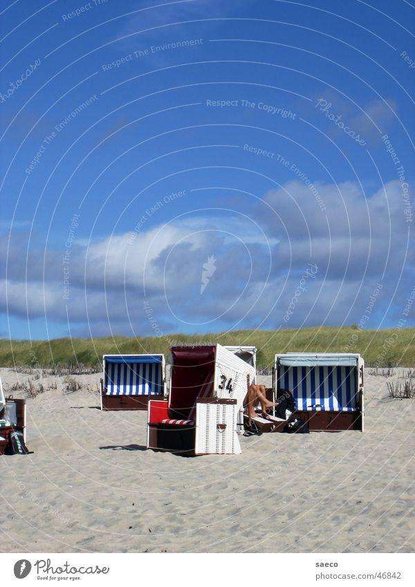 Sansibar-Strand Sylt Strandkorb Nordfriesland blau Himmel