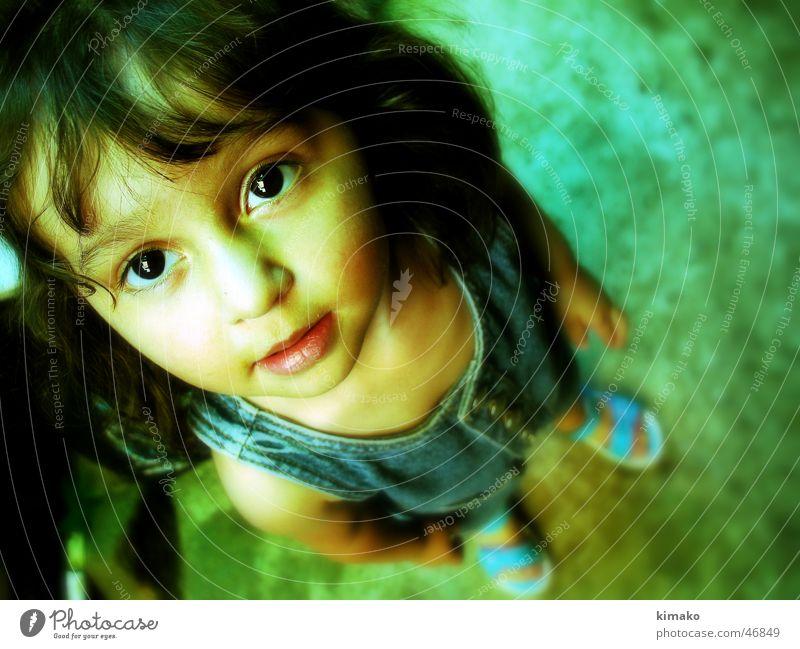Sarampahuila Kind Mädchen grün Auge Mexiko Cross Processing