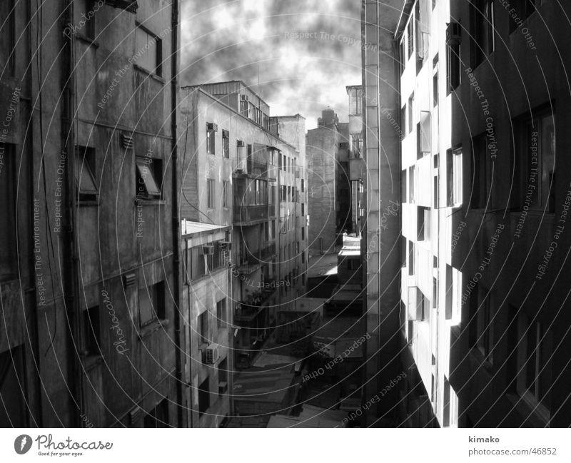 Santiago background Santiago de Chile Hintergrundbild Amerika Schwarzweißfoto building schwarz und weiß errichtend kimako america