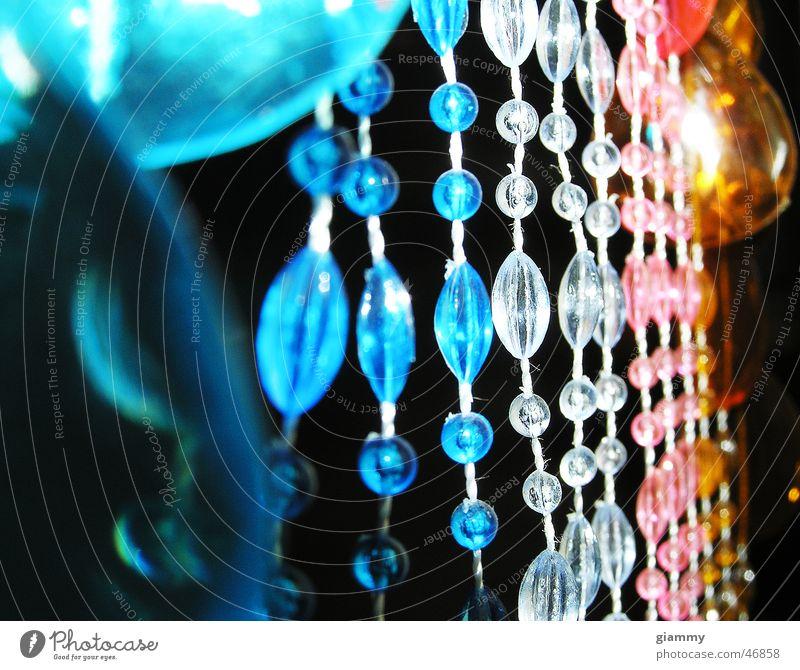 Perlenwelt! weiß violett Regenbogen blau vorhand curtain Farbe