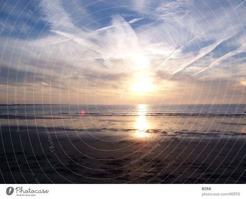 Stary sky sunset Himmel Sonne Strand