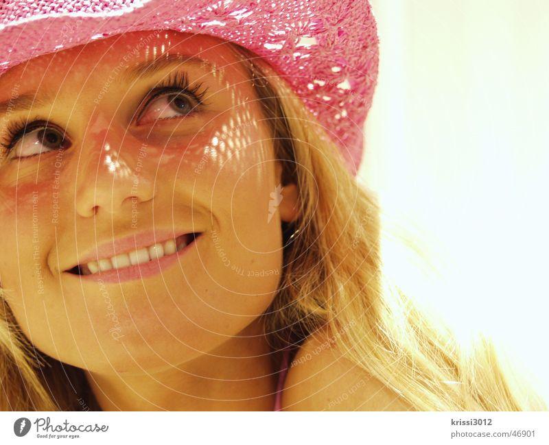 pink lady II Frau schön Sommer Freude lachen blond rosa Fröhlichkeit Model Hut