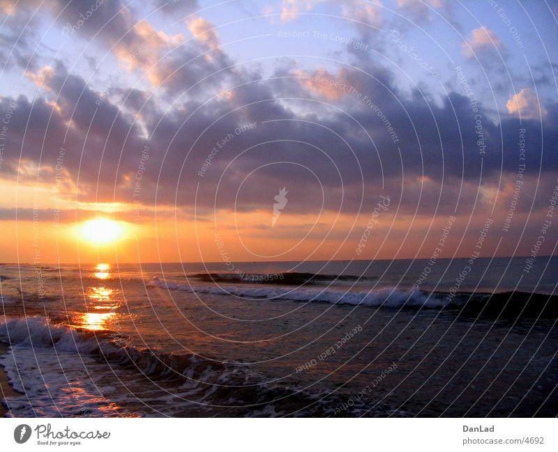 Morgen am Meer Wasser Strand Sand Sonnenaufgang Europa Spanien Mittelmeer