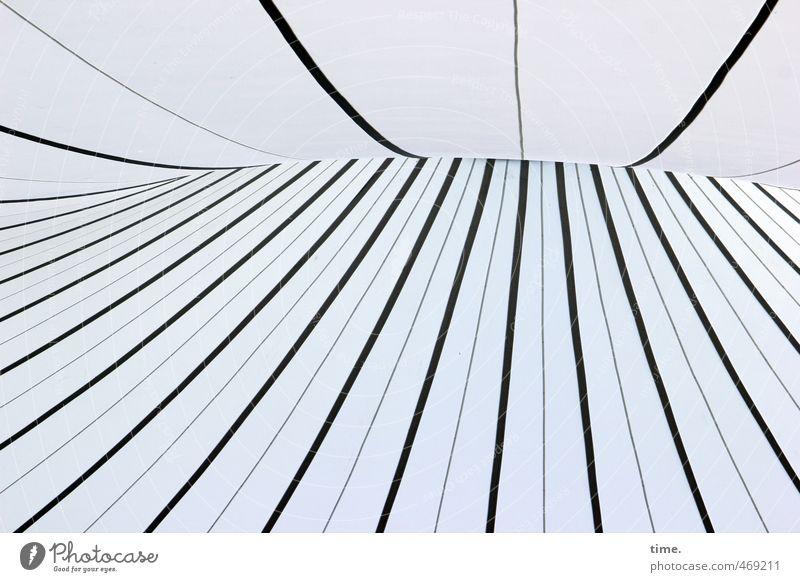 Luftnummer Technik & Technologie High-Tech Zelt Zeltplane Zelthimmel Dach Naht Kunststoff Linie Streifen Netzwerk sportlich gigantisch hoch modern Stress bizarr