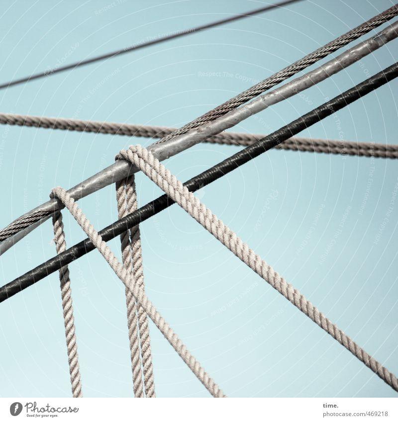 Lebenslinien #72 Himmel Schönes Wetter Schifffahrt Segelschiff Seil maritim Verantwortung gewissenhaft beweglich Stress Partnerschaft Genauigkeit Kraft Netzwerk