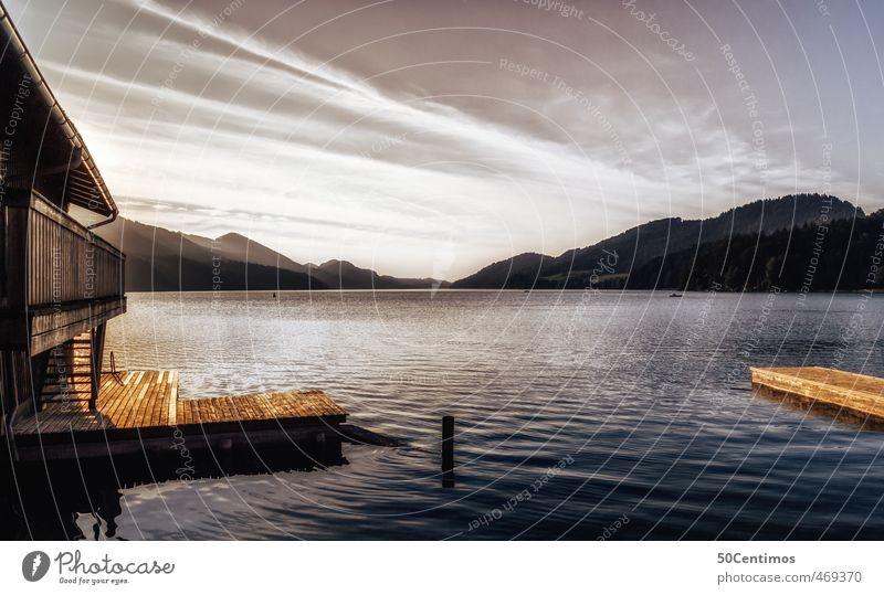 Die Ruhe am Fuschl am See blau Wasser ruhig Landschaft Wolken Umwelt Berge u. Gebirge träumen Schönes Wetter Sommerurlaub