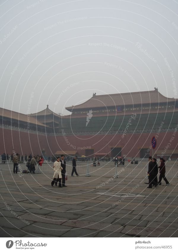 Verbotene stadt Mensch rot China Peking Tempel Verbotene Stadt