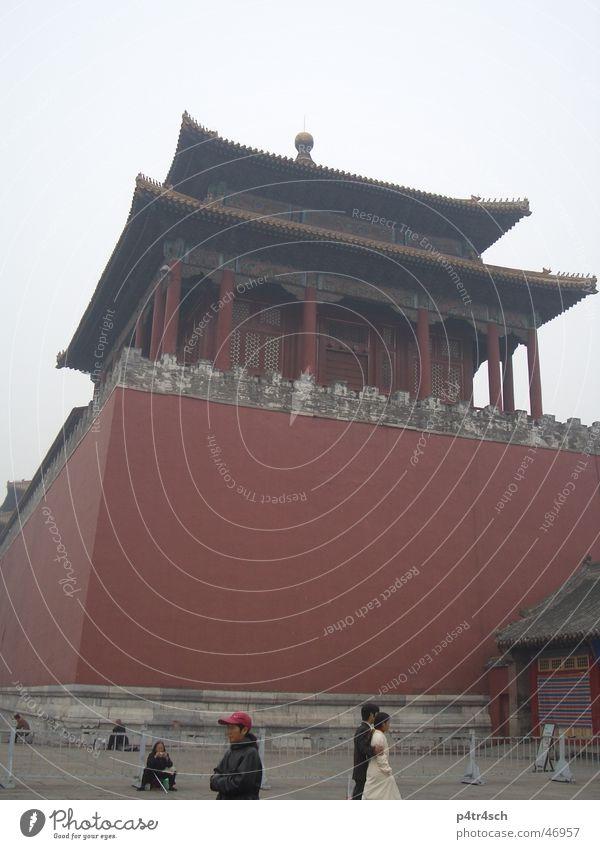 Verbotene Stadt rot Turm China Tempel