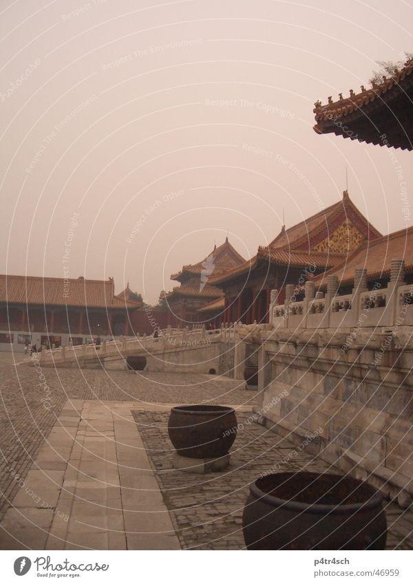 verbotene stadt Tempel rot Topf Verbotene Stadt China red