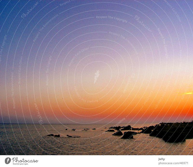 sunset Meer Sonnenuntergang rot Kroatien Küste blau