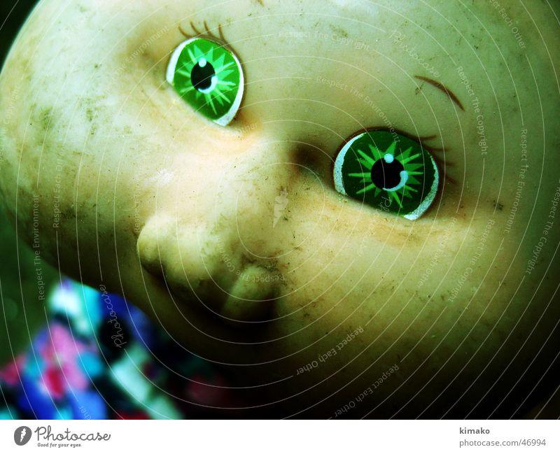 Old doll Spielzeug Trauer Cross Processing Puppe Gesicht alt Traurigkeit ausdehnung face toy old sad creep kimako