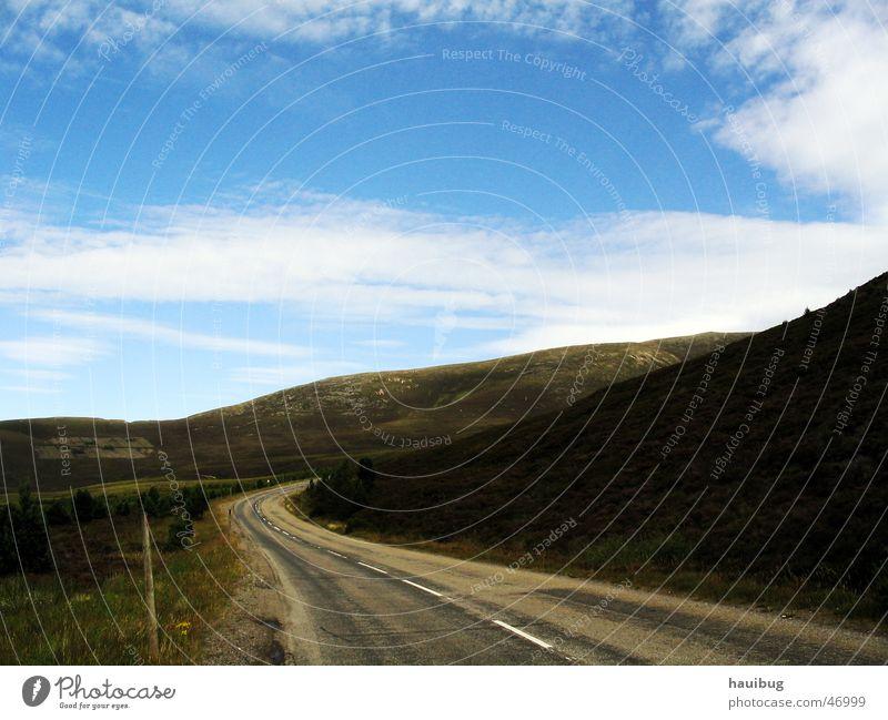 Hochland Straße Berge u. Gebirge Schottland Highlands