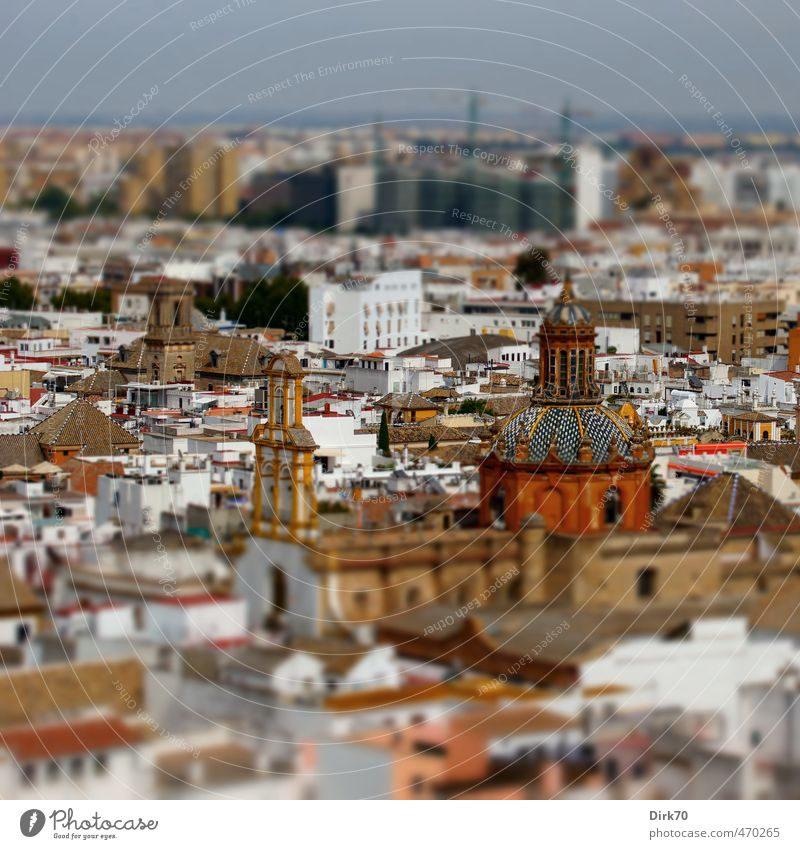Iglesia de Santa Cruz ... Ferien & Urlaub & Reisen Tourismus Städtereise Sevilla Andalusien Spanien Stadt Stadtzentrum Altstadt Haus Kirche Sehenswürdigkeit alt