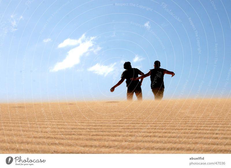 sand wurf Himmel Spielen Sand Wüste Dessert