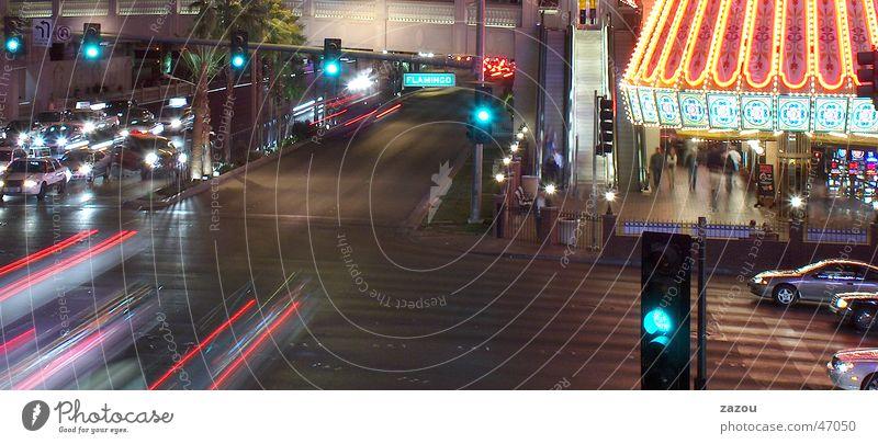 grün Straße PKW Beleuchtung Verkehr fahren Amerika Ampel Mischung Las Vegas