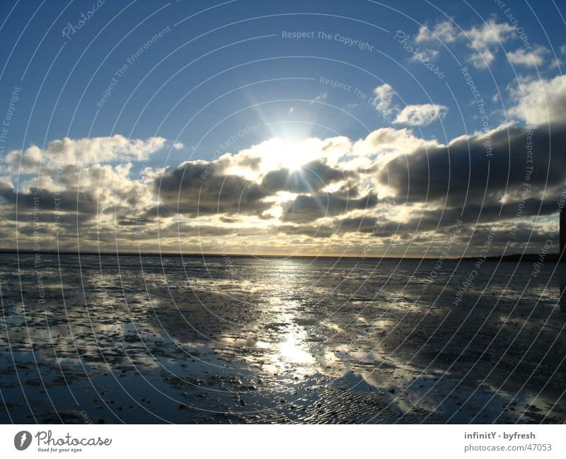 Callfor Sunrise grell scheinend Fröhlichkeit Ferne glänzend weich Meer nass schön Wolken Lamm Verschiedenheit langsam Horizont Kurort Hoffnung Reichtum