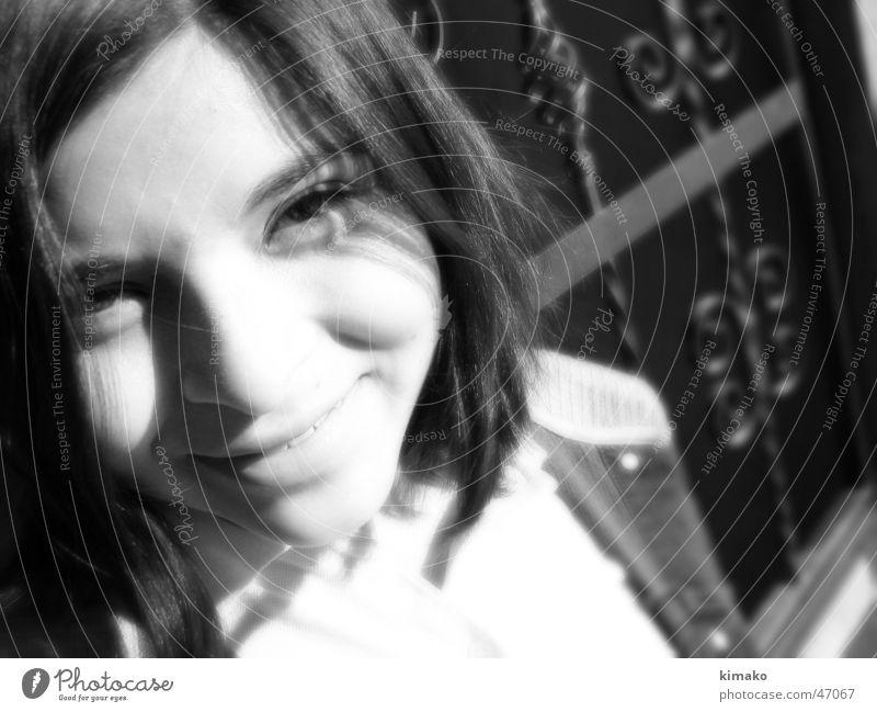 Chapis Mädchen Gesicht lachen grinsen Infrarotaufnahme