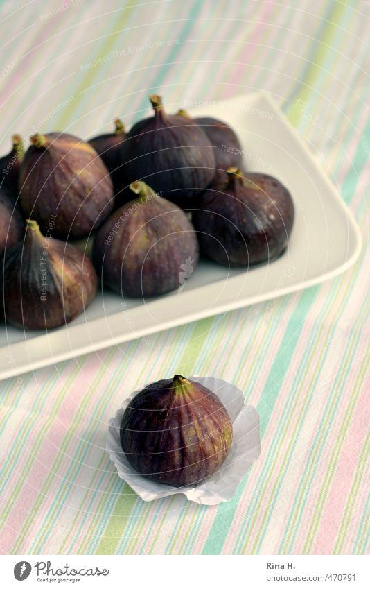 Feigen Gesundheit Frucht authentisch frisch süß lecker Geschirr Teller Vitamin Vegetarische Ernährung Feige