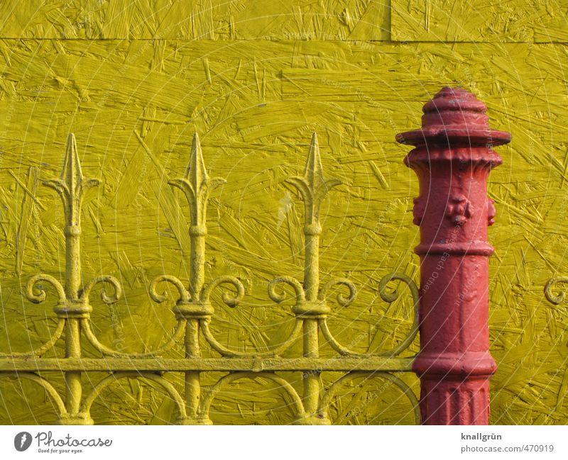 Tarnfarbe Stadt Farbe rot gelb Wand Gefühle Mauer außergewöhnlich Fassade Design verrückt Spitze Sicherheit einzigartig Kreativität Schutz