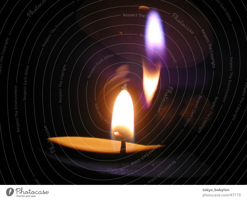 Teelicht Brand Kerze Flamme Kerzenschein Kerzenflamme
