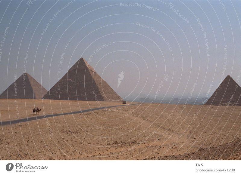 Ägypten Ferien & Urlaub & Reisen Tourismus Ausflug Abenteuer Expedition Architektur Natur Landschaft Sand Wüste Bauwerk Sehenswürdigkeit Wahrzeichen Denkmal