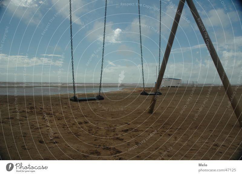 strandschaukel Meer Strand Sand Frankreich Schaukel Südfrankreich
