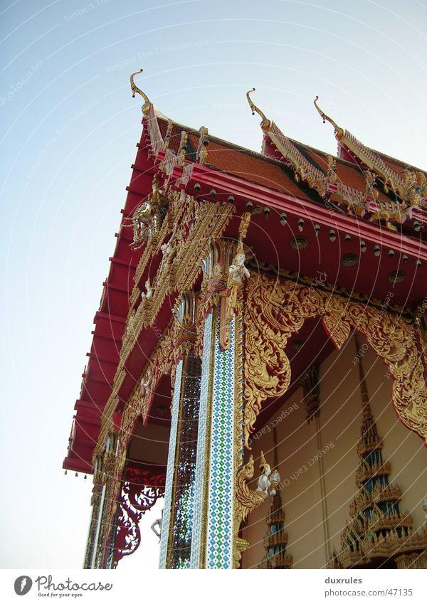 Buddhas Fußabdruck Himmel Sommer Ferien & Urlaub & Reisen gold Dach Asien Dekoration & Verzierung Spitze Thailand Buddhismus Tempel Zierde Mosaik Vietnam