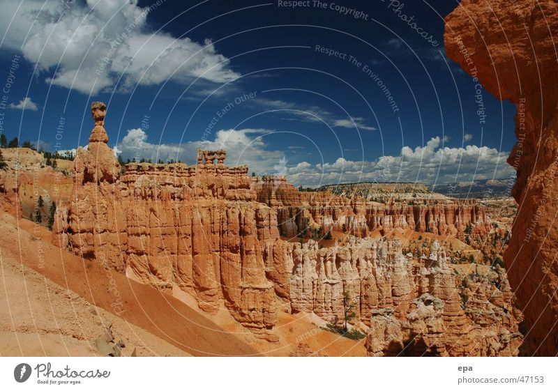 Bryce Canyon 2 Nationalpark rot Ferien & Urlaub & Reisen USA Stein Himmel Landschaft Ferne Freiheit Naturwunder