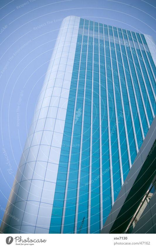 Hong Kong High Hongkong China Weitwinkel Hochhaus blue sterill Perspektive hoch high