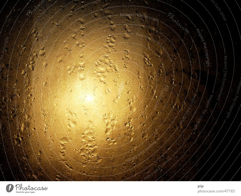 beschlagen Wasser Sonne Einsamkeit Lampe dunkel kalt Fenster grau Traurigkeit Graffiti hell Angst Nebel Wassertropfen nass gold