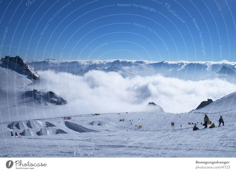 snow on the mountains weiß Berge u. Gebirge Schnee Alpen Graffiti