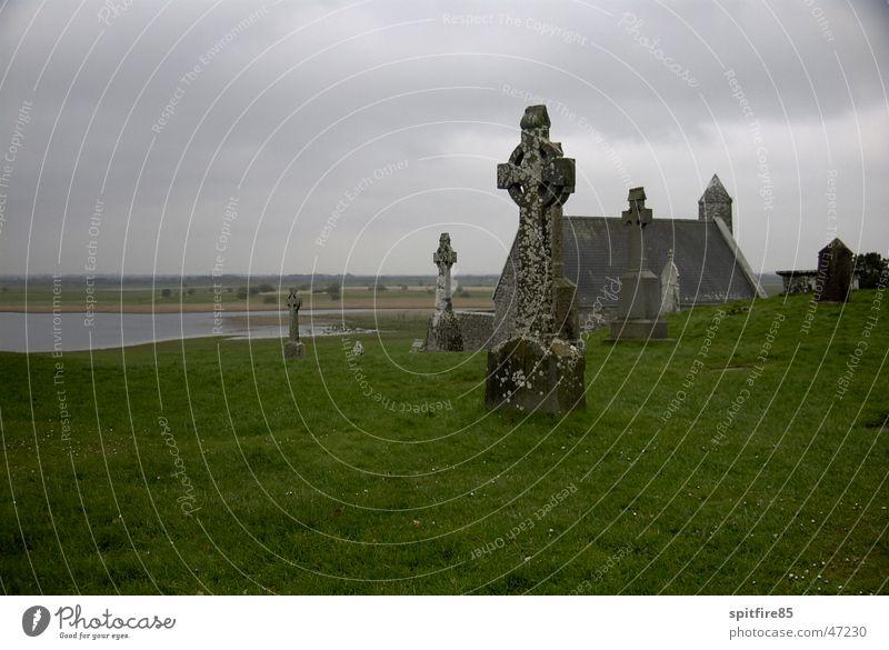 High Cross Rücken Bauernhof Friedhof Grab Republik Irland
