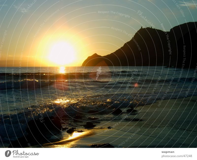 Playa de Monsul Meer Strand Wellen Spanien Andalusien Cabo de Gata