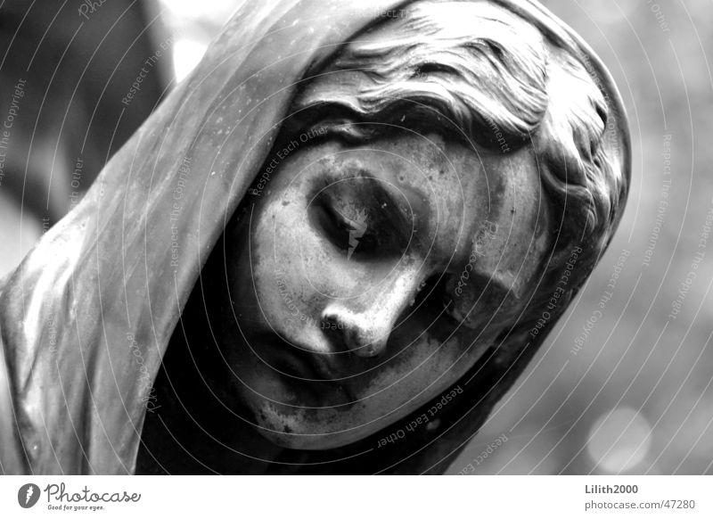 Friedhof 2 Köln grau Umhang Religion & Glaube Engel Schwarzweißfoto