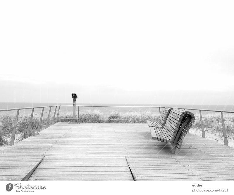 Abandoned North Sea Meer Strand Einsamkeit Bank Aussicht Nordsee Podest