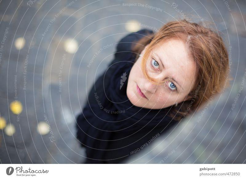 Augenblick Mensch Junge Frau Jugendliche Erwachsene Leben Gesicht 1 beobachten Kommunizieren Blick schön einzigartig natürlich feminin Gefühle geheimnisvoll