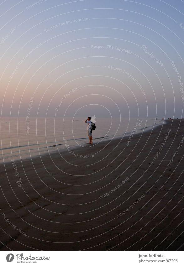 blick ans ende der welt Strand ruhig Einsamkeit Ferne Erholung Hoffnung Aussicht Nordsee Pastellton