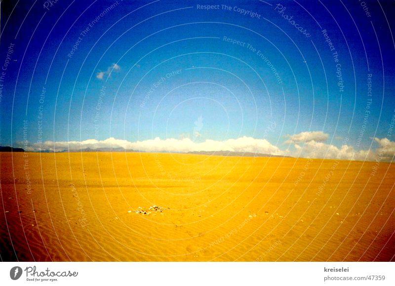 horizonte Himmel Ferien & Urlaub & Reisen Wolken Sand Wüste heiß trocken