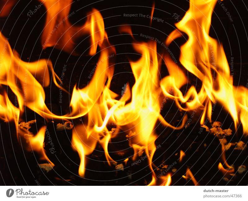 Feuer und seine Magie Erholung dunkel kalt Wärme Lampe hell Stimmung Brand Romantik Physik heiß brennen Flamme