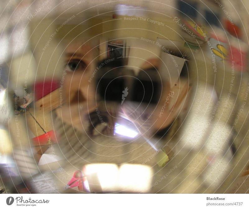 Spiegelungen in einer Diskokugel durcheinander Discokugel Fototechnik