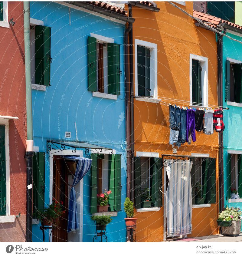 Colorwaschmittel Ferien & Urlaub & Reisen Sightseeing Städtereise Sommerurlaub Häusliches Leben Wohnung Haus Venedig Burano Italien Europa Dorf Kleinstadt