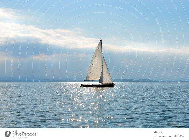 Segeln Ferien & Urlaub & Reisen Wasser Sonne Meer Erholung Einsamkeit ruhig Ferne Gefühle Sport Freiheit Schwimmen & Baden See Horizont Stimmung