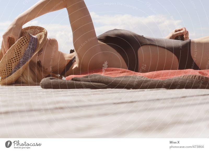 letzte Urlaubsgrüße schön Wellness Erholung ruhig Meditation Ferien & Urlaub & Reisen Sommer Sommerurlaub Sonne Sonnenbad Mensch feminin Junge Frau Jugendliche