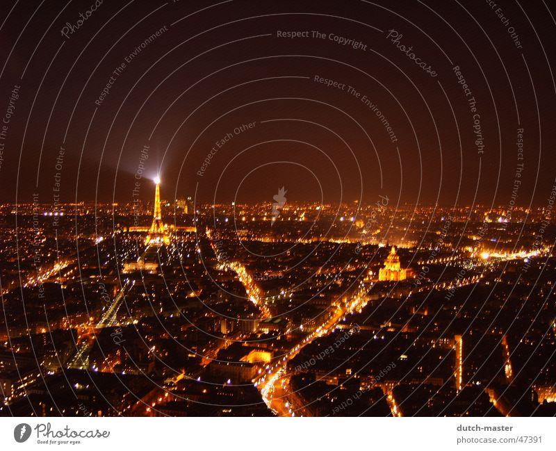 Paris in der Nacht hoch Paris traumhaft