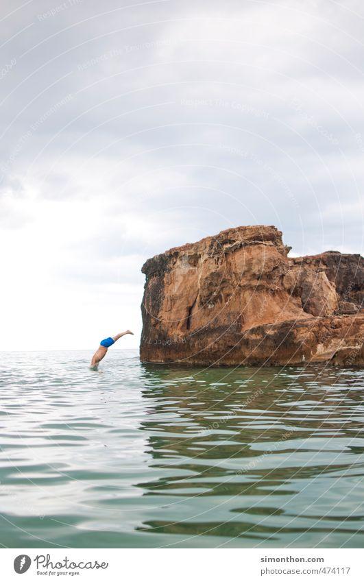 Untertauchen Mensch Natur Ferien & Urlaub & Reisen Sommer Meer Ferne Leben Freiheit Schwimmen & Baden Erde maskulin Wellen Tourismus Insel Ausflug Fitness
