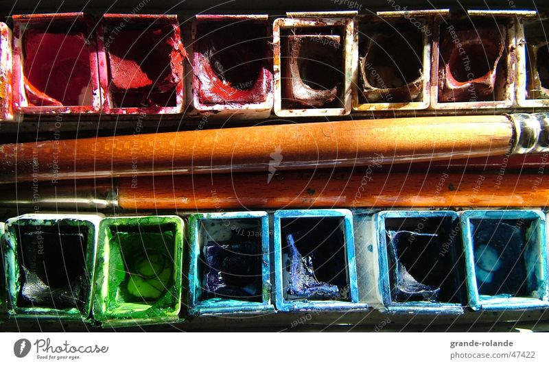 mein Aquarellkasten Kunst mehrfarbig Pinsel Farbmittel aquarellkasten Farbe streichen Künstler