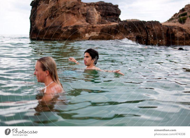 Urlaub Ferien & Urlaub & Reisen Tourismus Ausflug Abenteuer Ferne Freiheit Sommer Sommerurlaub Sonne Meer Insel Wellen Glück Unendlichkeit maritim nackt nass
