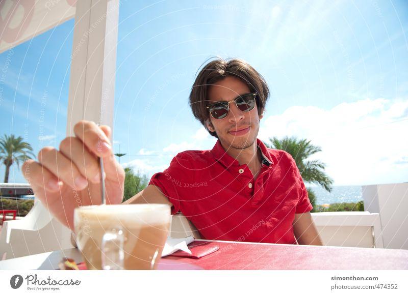 Kaffee Mensch Ferien & Urlaub & Reisen Jugendliche Sonne Meer 18-30 Jahre Erwachsene sprechen Stil Lifestyle Business maskulin Freizeit & Hobby elegant Erfolg genießen