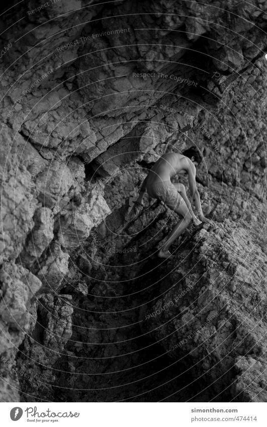 Klettern Ferien & Urlaub & Reisen Abenteuer Expedition Sport Bergsteigen Natur Felsen Berge u. Gebirge Küste Riff anstrengen ästhetisch entdecken Fitness